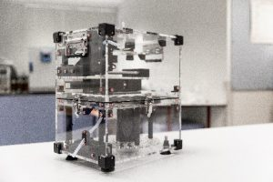 The autosampler sitting on a bench